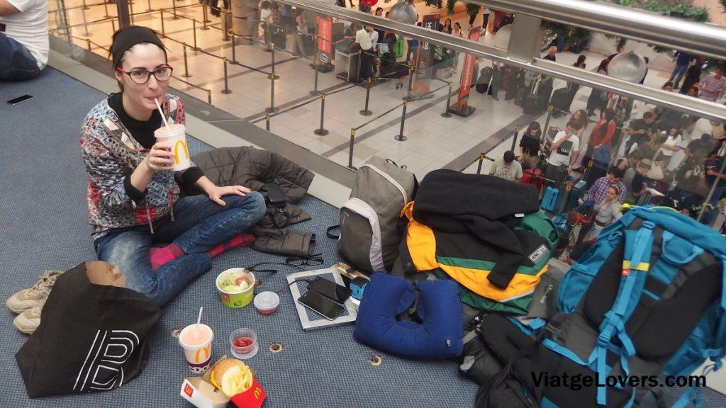 Nuestro rincón en el aeropuerto de Buenos Aires