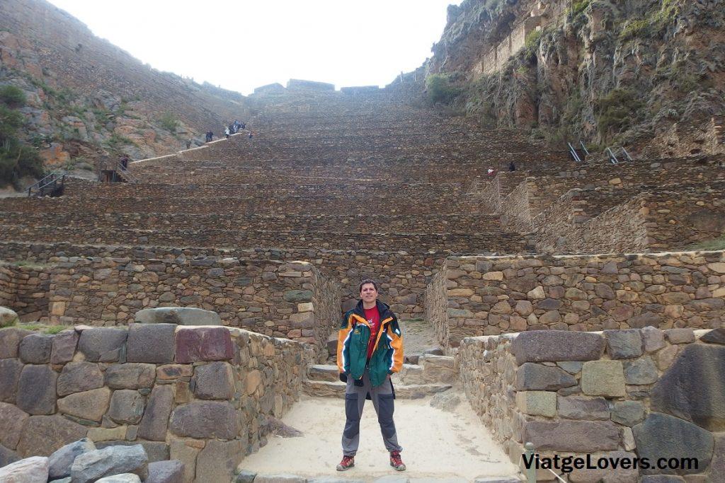 Escaleras hacia el Templo del Sol, Ollantaytambo