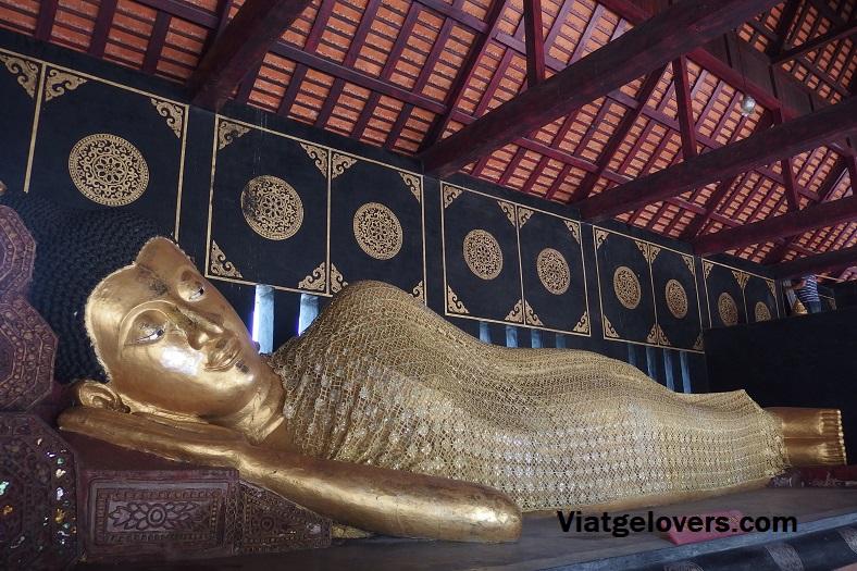 Buda reclinado, Wat Phra Singh, Chiang Mai