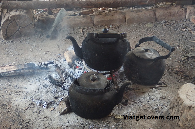 Teteras donde prepararon el café