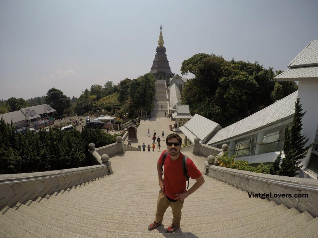Vista de la pagoda a la reina desde la pagoda al rey
