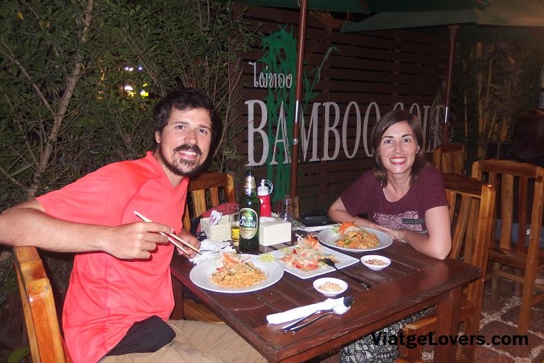 Deliciosa cena en Khao Sok