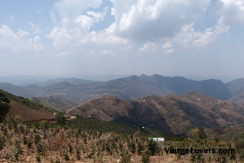 Vistas desde el View Point, trekking kalaw-inle