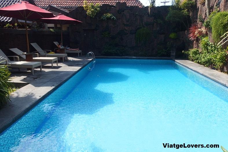 Chill out en la piscina, Yogyakarta