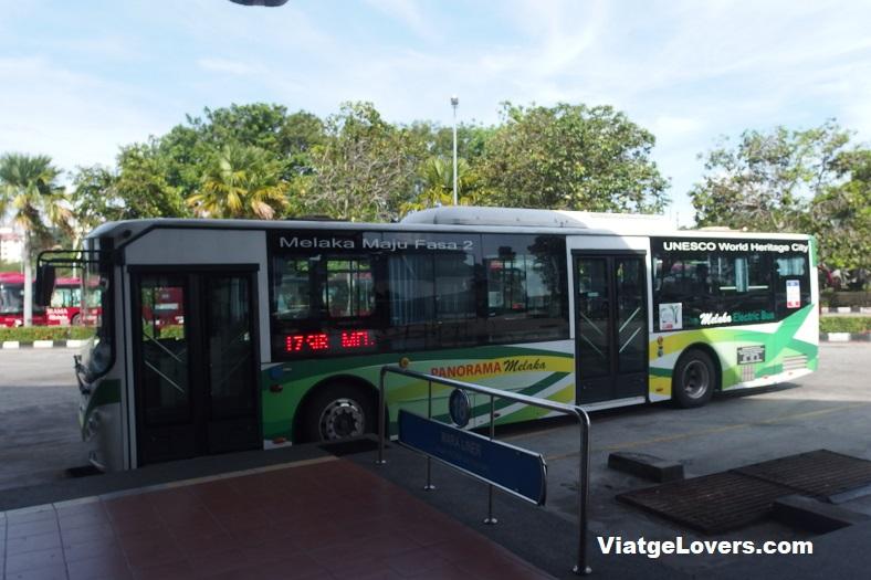 Bus de Melaka Sentraal a Melaka. Malasia -ViatgeLovers.com