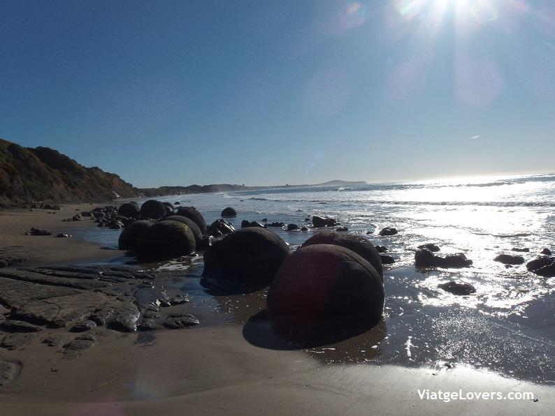 Moeraki boulders, Nueva Zelanda -ViatgeLovers.com