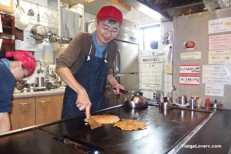 Okonomiyaki en Kyoto -ViatgeLovers.com
