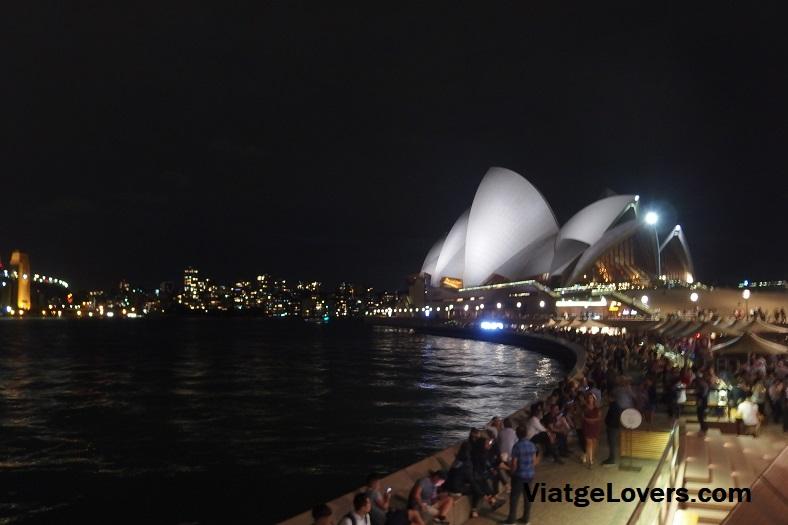 Opera de Sydney de noche