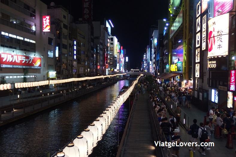 Dotombori de noche, Osaka. Japón -ViatgeLovers.com