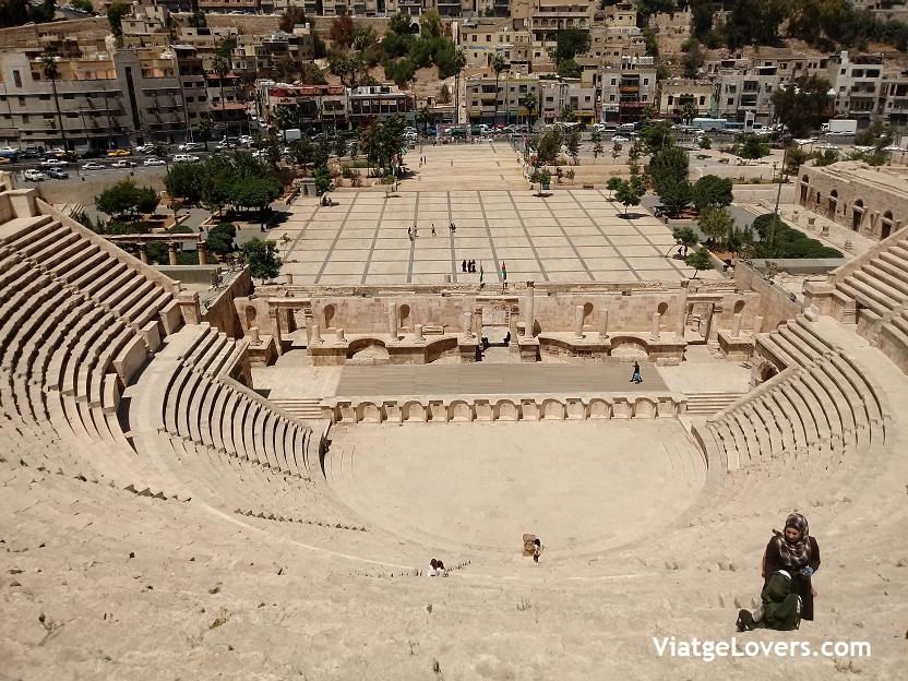 Anfiteatro de Amman. Jordania por Libre -ViatgeLovers.com